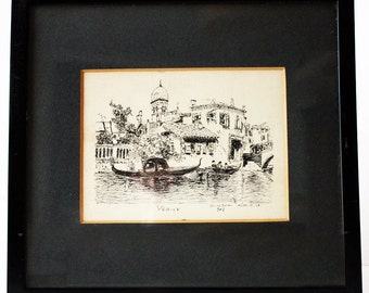 Venice - Pen and ink drawing