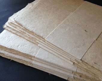 Denak 5 Pack, 180 gsm 16x28cm Bhutanese paper, 6 x 11 inches, medium surface handmade artists paper, light natural fibre