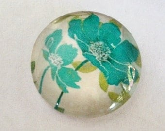 Tropical Flower Cabochon,20mm