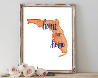 "Florida ""Home Sweet Home"" - Digital Print"