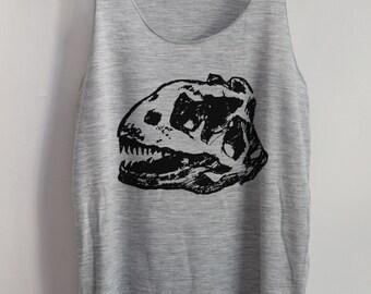 Fossil Art Tank Top Shirt T-Shirt Animal Shirt Vintage Funny Shirt Tank Top Dinosaur T-Shirt Tunic Top Vest Size S,M,L
