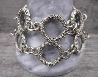 Avant Garde Dark Silver Chain Bracelet