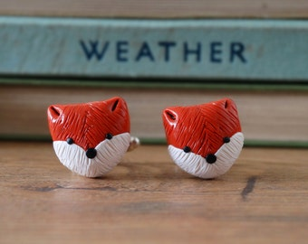 By the Shed Fox Cufflinks - Wildlife - Red Fox, Animal, Garden, Countryside, Hunting Ban, Unique Present - Rhodium Plated, Shirt