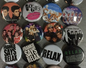 002 NewWave New Wave Nu Romantic Button, Pin, Badge