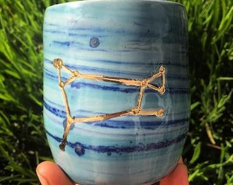 Aries Zodiac Constellation 22k Gold Astrology Tumbler