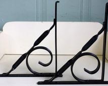 Black Metal Shelf Bracket Lightweight Aluminum Shelf Brackets Decorative Industrial Shelving