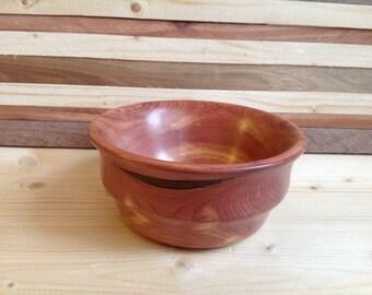 Handcrafted cedar wood bowl-15CDB001