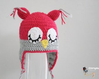 Knit Hat Owl asleep.