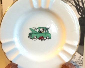 "1950's Sabina Line ""Yipee"" Plate Very Fristy"