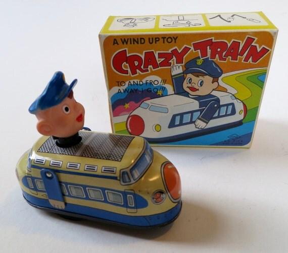 Japanese tin wind-up crazy train
