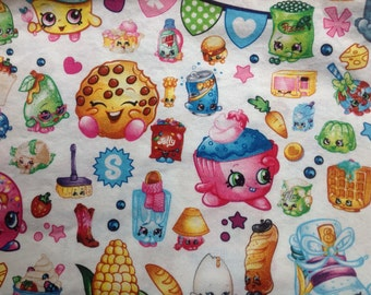 Licensed Shopkins Fabric by the yard