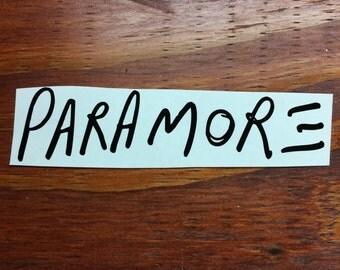 Paramore Text Logo | Vinyl Decal