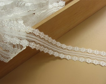 off white trim 5yards lace DIY Lace ribbon white flower Lace Trim ivory sewing Edges