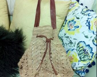 Madagascar Raffia Bag,Mar Y Sol Raffia Bag ,Handcrafted from Raffia by artisans in Madagascar,SANIBEL Drawstring Tote Design By MAR Y SOL