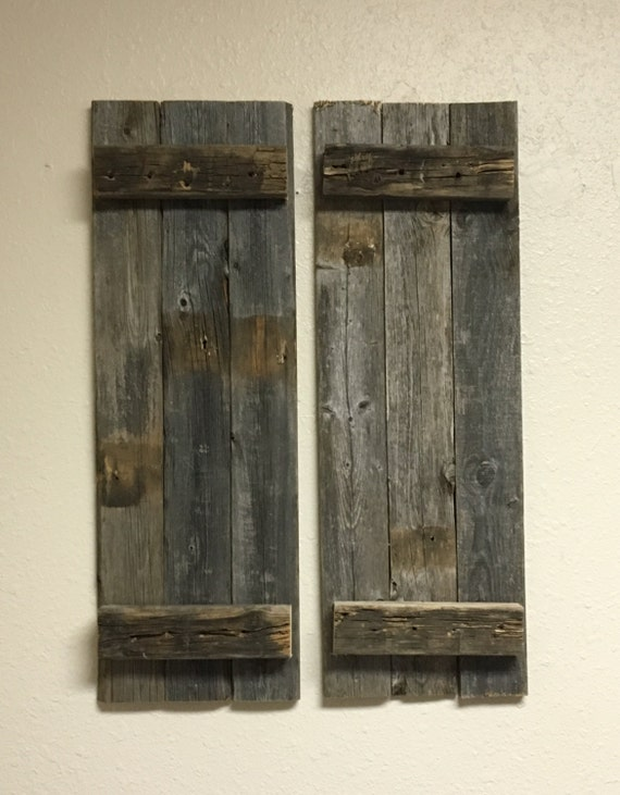Barnwood Shutters Barn Wood Rustic Decorative Shutter Set Of 2