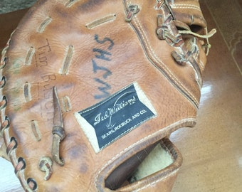 Vintage Ted Williams First Base Mens Leather Glove Made in the USA 1672