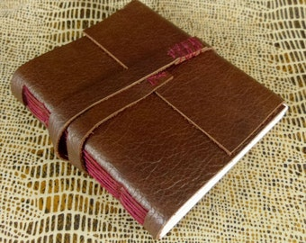 Blood & Chocolate Small Brown Leather Handmade Blank Journal Pocket Notebook