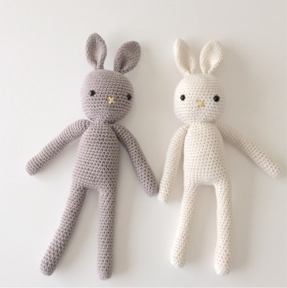 Made to Order Crochet Bunny Plush Toy Amigurumi Bunny Handmade Rabbit, Newborn Prop, Easter Bunny Newborn and Toddler Soft Toy Bunny Rabbit