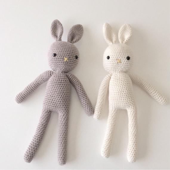 Made to Order Crochet Bunny Plush Toy Amigurumi Bunny Handmade Rabbit, Newborn Prop, Easter Bunny Newborn and Toddler Soft Toy Bunny Rabbit