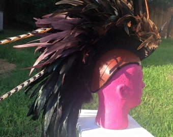 Brown to Black Feather Mohawk