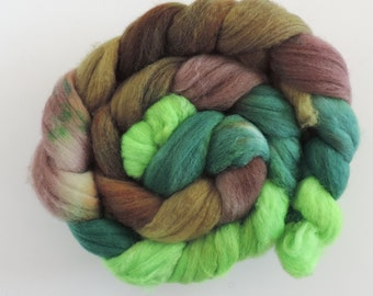merino nylon,Purtzeltroll,superwash sock blend, top,handpainted fiber for spinning,3,5oz