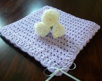 Purple Crochet Baby Blanket, Purple Crochet Baby Afghan, Purple Newborn Blanket, Purple Newborn Afghan, Purple Baby Shower Gift