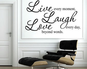 Removable Wall Stickers - Live, Laugh, Love