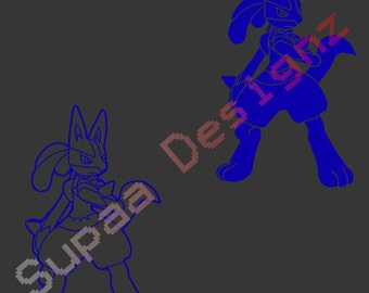 Pokken Tournament Lucario Decal