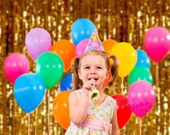 Sparkle Gold Curtain Sequin Backdrop READY TO SHIP for Birthday Party Photo Booth, Event Dessert Table Background Bridal Baby Shower Decor