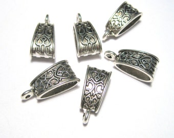 Antique Silver Pattern Carved Bails Triangle