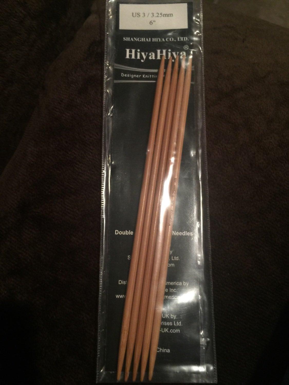 Hiya Hiya Bamboo Double Point Knitting Needles US Size 9
