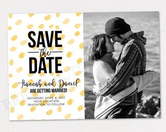 SAVE THE DATE card 5x7 | digital download