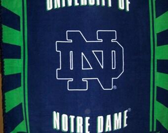 Notre Dame Fleece Throw