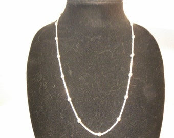 Sterling Silver Chain Necklace w/ Silver Balls
