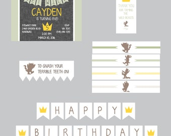 Where the WIld Things Are Party Printables-Where the Wild Things Are Party Theme