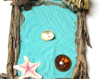 Miniature Zen Garden, Beach Zen Garden, Miniature Zen Garden Kit, Ocean Decor
