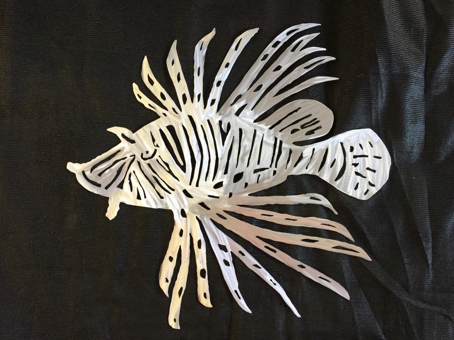 Lionfish metal fish art wall art beach house decor gifts for Metal fish art wall decor