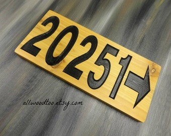 Cedar Wood Sign Home Address Sign Outdoor Signs Street Signs Newlywed Gifts Personalized House Sign House Number Sign Mailbox Numbers
