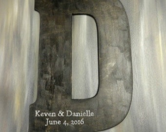 Large Letters Alternative Guest Books Wedding Letters Personalized Wedding Signs Engraved Large Wedding Photo Props Rustic Wedding Signs