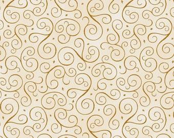Christmas Scrolls - Gold (9931-4) by Henry Glass Fabrics Cotton Fabric Yardage
