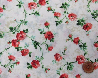 Color Story Vining Roses 2250-14A by Quilt Gate Cotton Fabric Yardage