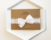 Headband - White Lace Stretch headband