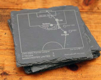 Chelsea Greatest Plays - Slate Coasters (Set of 4)