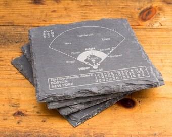 Mets Greatest Plays - Slate Coasters (Set of 4)