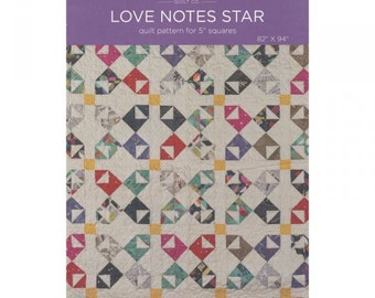Love Notes Star Quilt Pattern by the Missouri Star Quilt Company
