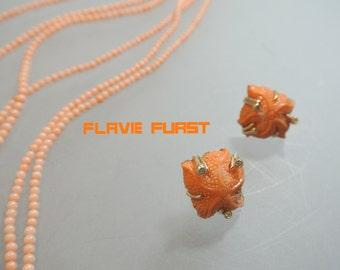 earrings coral starfish