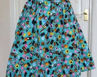 Blue Liquorice Treats Inspired Elasticated Skirt