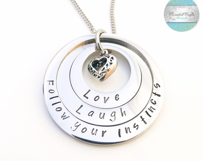 Inspirational pendants personalised layered necklace mothers necklace family jewelry personalized jewellery grandmother necklace silver surgical steel family aloadofball Gallery