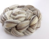 Humbug Corriedale/Silk top (roving) - undyed/natural spinning and felting fibre – Maenad blend - 100g/3.5oz