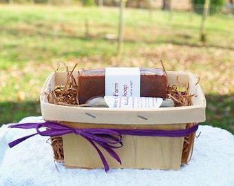 Homemade Soap Gift Set ~ Fresh Goat's Milk Soap & 4oz. Skin Conditioner ~ Homemade Gift for Her ~ Soap Gift Basket ~ Artisan Soap Gift ~